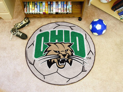 "27"" Round Ohio Bobcats Soccer Mat"