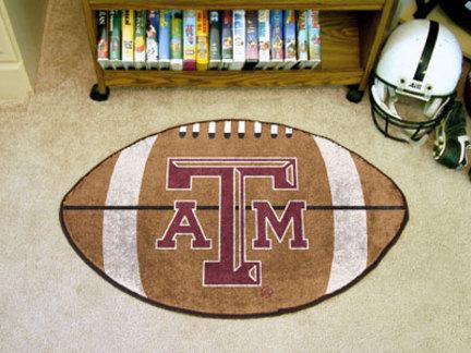 """22"""" x 35"""" Texas A & M Aggies Football Mat"""