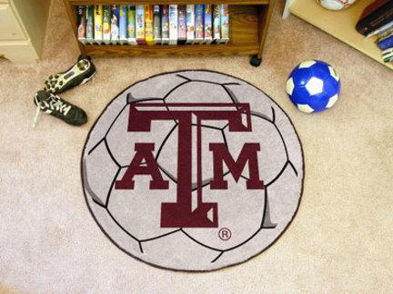 27in Round Texas A & M Aggies Soccer Mat