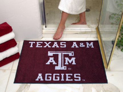 34in x 45in Texas A & M Aggies All Star Floor Mat