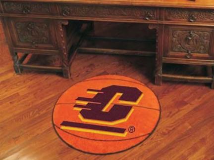 "27"" Round Central Michigan Eagles Basketball Mat"