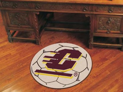 """27"""" Round Central Michigan Eagles Soccer Mat"""