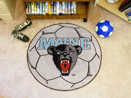 "27"" Round Maine Black Bears Soccer Mat"