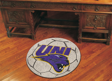 "27"" Round Northern Iowa Panthers Soccer Mat"