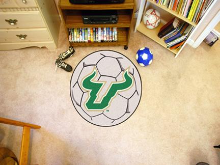 """27"""" Round South Florida Bulls Soccer Mat"""
