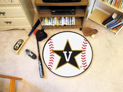 "27"" Round Vanderbilt Commodores Baseball Mat"