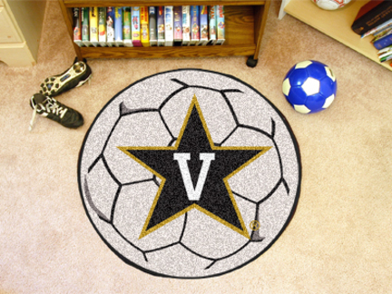"27"" Round Vanderbilt Commodores Soccer Mat"