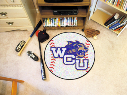 "27"" Round Western Carolina Catamounts Baseball Mat"