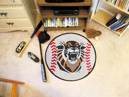 """27"""" Round Fort Hays State Tigers Baseball Mat"""