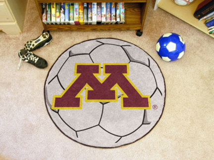 "27"""" Round Minnesota Golden Gophers Soccer Mat"" FAN-1018"