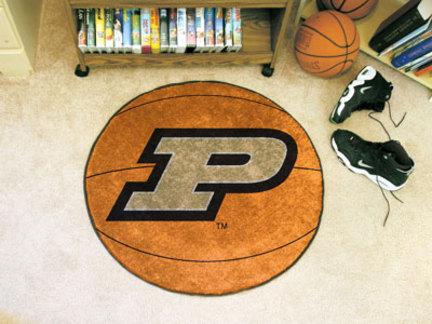 "27"" Round Purdue Boilermakers Basketball Mat"
