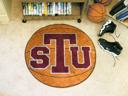 27 Round Texas Southern Tigers Basketball Mat
