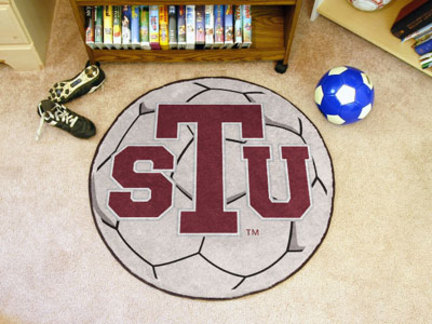 27 Round Texas Southern Tigers Soccer Mat