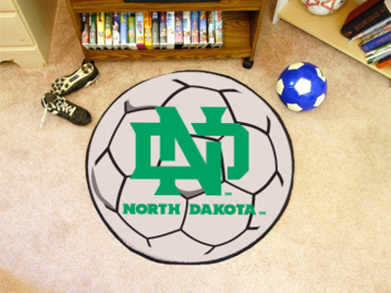 North Dakota  Sioux 27 Round Soccer Mat