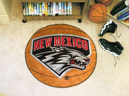 "27"" Round New Mexico Lobos Basketball Mat"