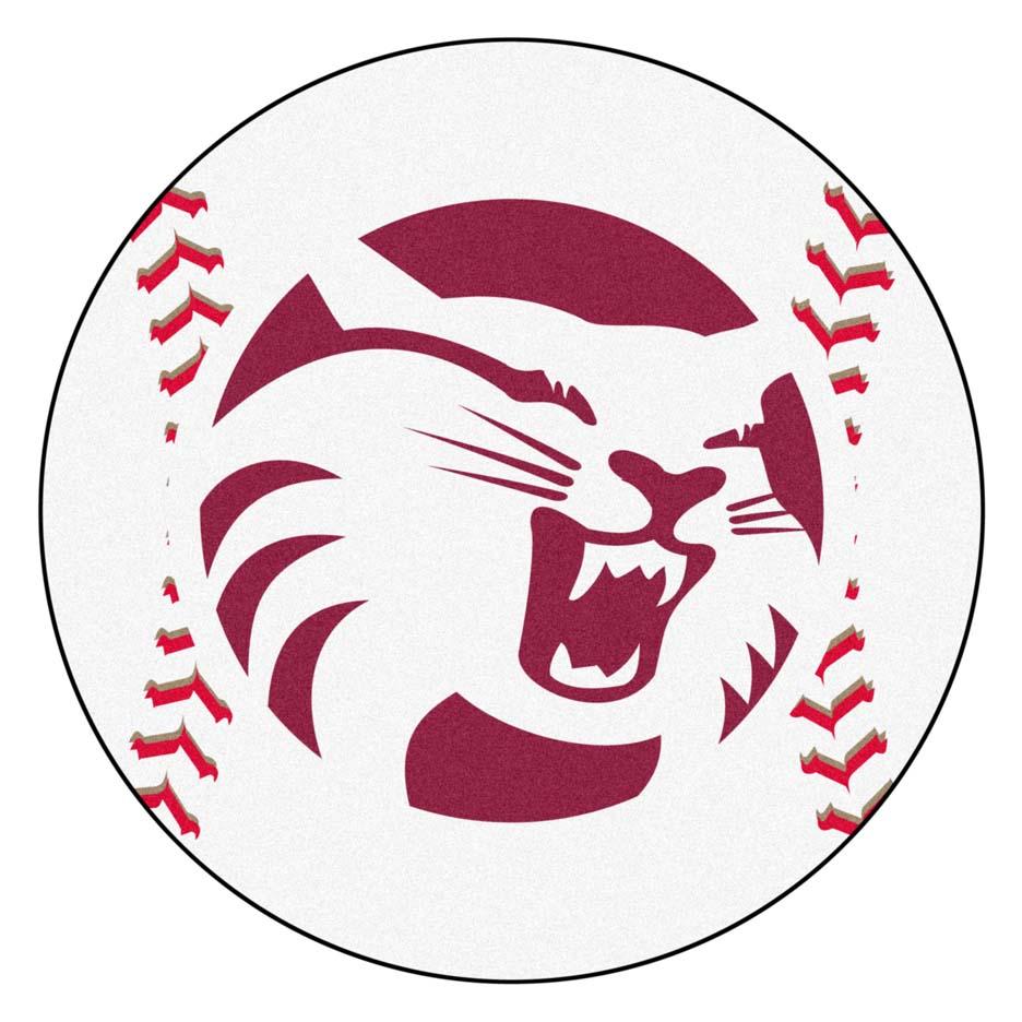 """27"""" Round California State (Chico) Wildcats Baseball Mat"""