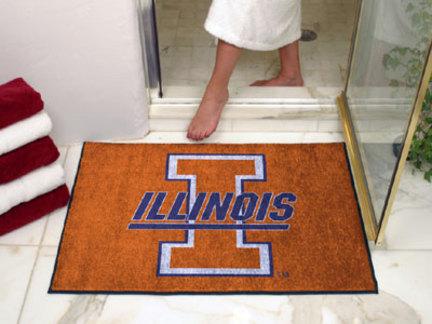 """34"""" x 45"""" Illinois Fighting Illini All Star Floor Mat"""