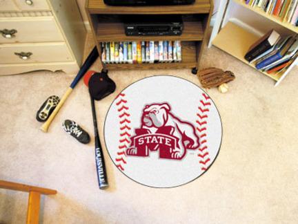 "27"" Round Mississippi State Bulldogs Baseball Mat"