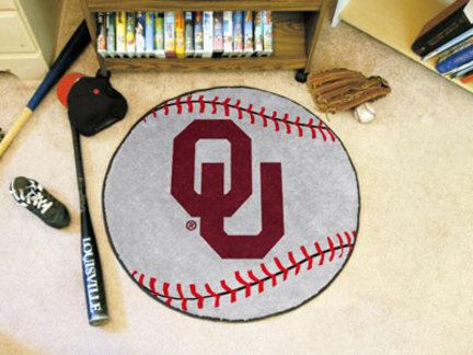 "27"" Round Oklahoma Sooners Baseball Mat"