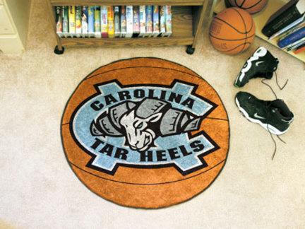 North Carolina Tar Heels 27 inch Round Basketball Mat