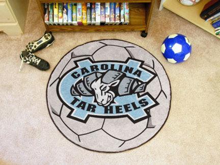 """North Carolina Tar Heels 27"""" Round Soccer Mat"""