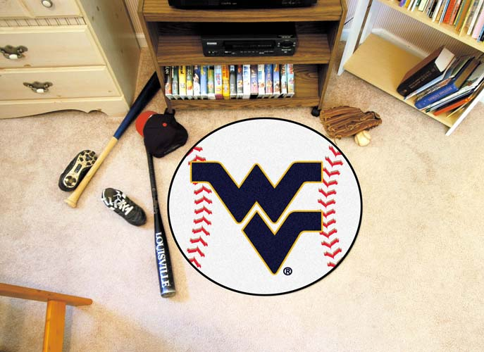 "27"" Round West Virginia Mountaineers Baseball Mat"