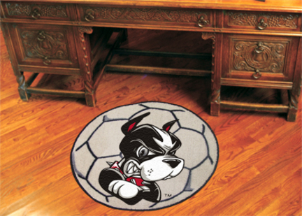 "27"" Round Boston Terriers Soccer Mat"