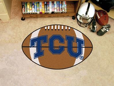 """22"""" x 35"""" Texas Christian Horned Frogs Football Mat"""