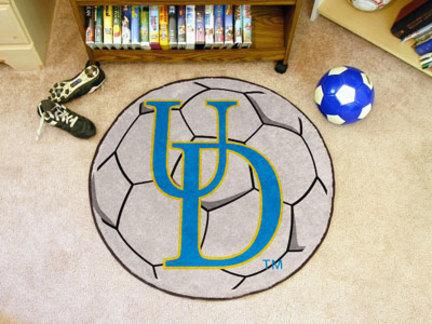 """27"""" Round Delaware Fightin' Blue Hens Soccer Mat"""