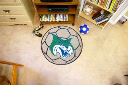 """27"""" Round Georgia College and State University Bobcats Soccer Mat"""
