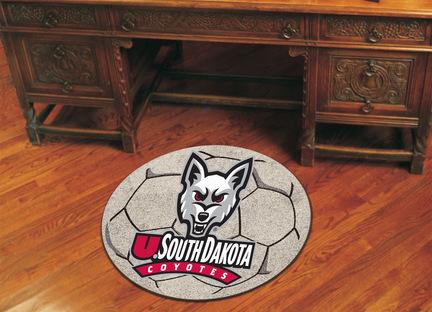 "27"" Round South Dakota Coyotes Soccer Mat"