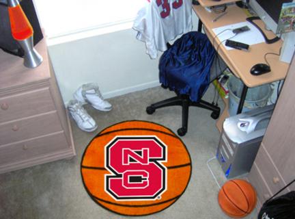 "27"" Round North Carolina State Wolfpack Basketball Mat"