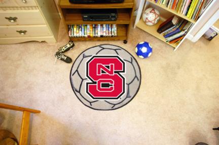 "27"" Round North Carolina State Wolfpack Soccer Mat"