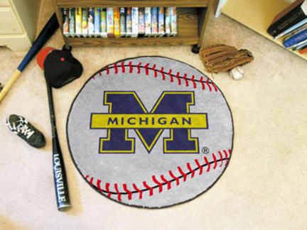 27 inch Round Michigan Wolverines Baseball Mat
