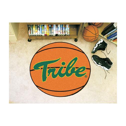 "27"" Round William & Mary Tribe Basketball Mat"