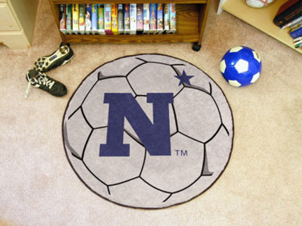 "27"" Round Navy Midshipmen Soccer Mat"