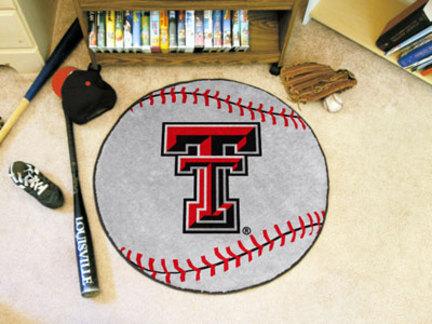 "27"" Round Texas Tech Red Raiders Baseball Mat"