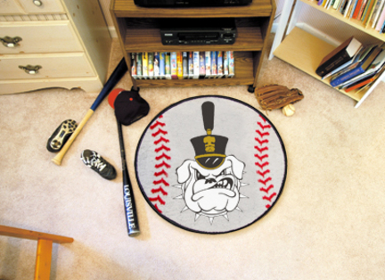 "27"" Round Citadel Bulldogs Baseball Mat"
