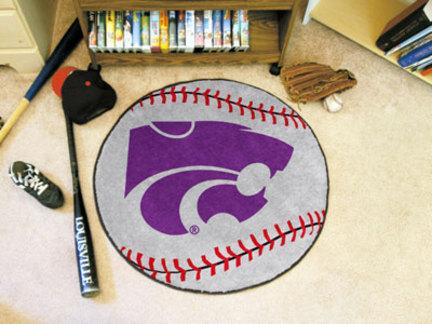 "27"""" Round Kansas State Wildcats Baseball Mat"" FAN-3738"