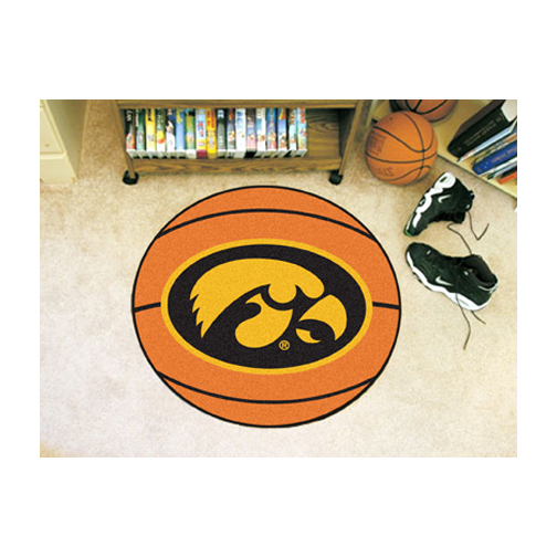 "27"" Round Iowa Hawkeyes Basketball Mat"