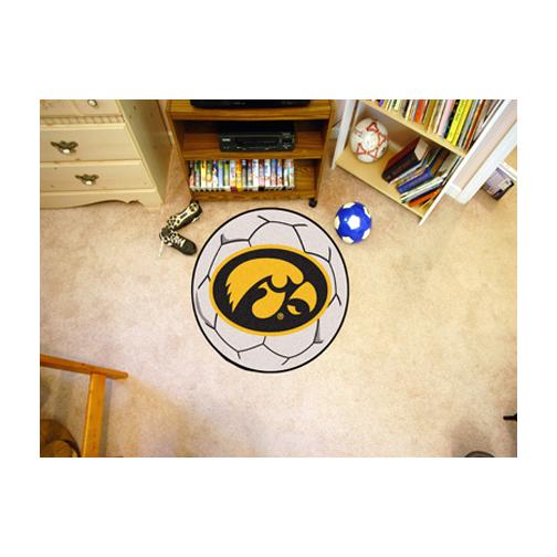 """27"""" Round Iowa Hawkeyes Soccer Mat"""
