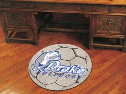 "Drake Bulldogs 27"" Round Soccer Mat"