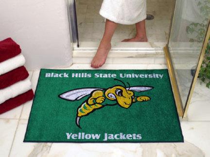 "34"" x 45"" Black Hills State Yellow Jackets All Star Floor Mat"
