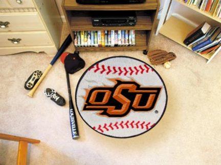 "27"""" Round Oklahoma State Cowboys Baseball Mat"" FAN-4134"