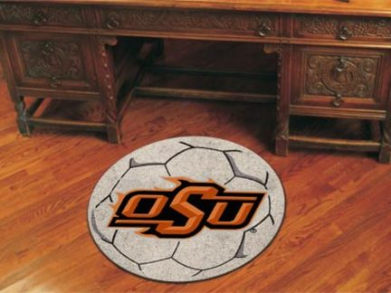 27 inch Round Oklahoma State Cowboys Soccer Mat