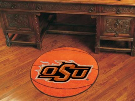 27 inch Round Oklahoma State Cowboys Basketball Mat