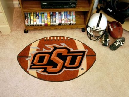 22in x 35in Oklahoma State Cowboys Football Mat
