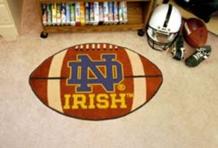 Notre Dame Fighting Irish 22in x 35in Football Mat (with 'ND')