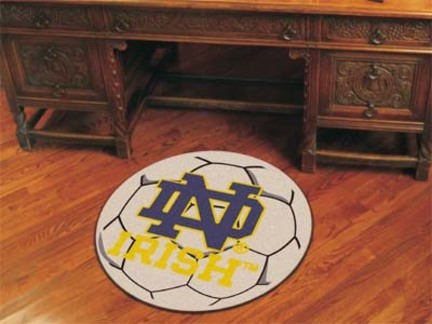 """Notre Dame Fighting Irish 27"""" Round Soccer Mat (with """"ND"""")"""