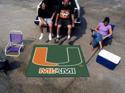 Miami Hurricanes 5' x 6' Tailgater Mat